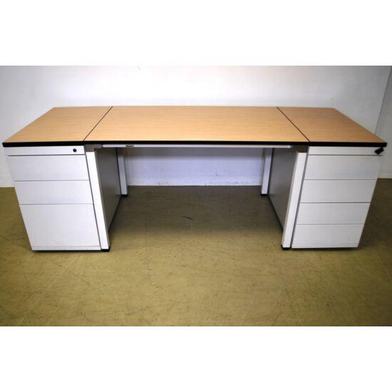 Egyenes asztal-Kalidro- 2 db. konténerrel Blue-4461+4459,4460